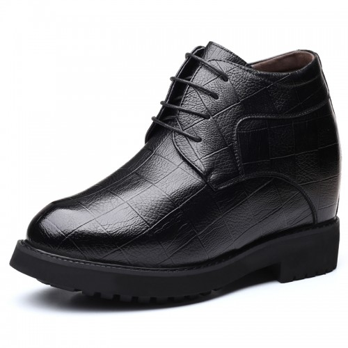 6 inch Height Increasing Business Shoes Premium Leather Hidden Lift Formal Dress Shoes Add Taller 15cm