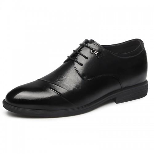 2019 British Lace Up Elevator Derbies Gain Taller 2.6inch / 6.5cm Comfortable Men Wedding Shoes