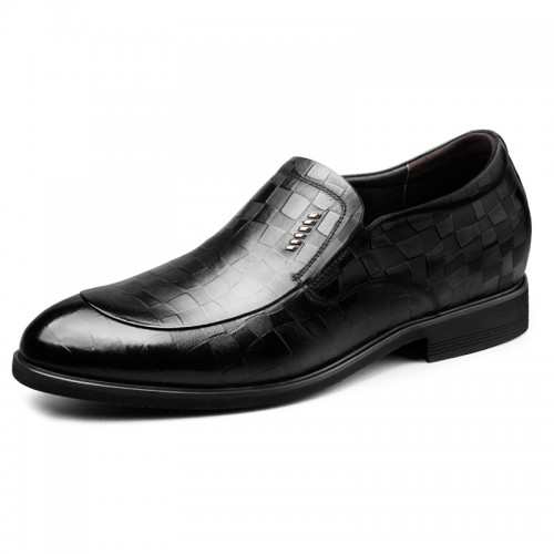 2019 Slip On Height Increase Embossed Tuxedo Shoes for Men Taller 2.6inch / 6.5cm Korean Formal Loafers