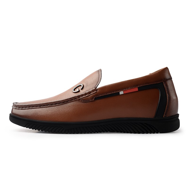 Color : Brown, Size : 8 MUS L.Z.H Mens Elevator Shoes 2 Taller Lace up Leather Loafer Removable Height Increasing Insole Driving Shoes