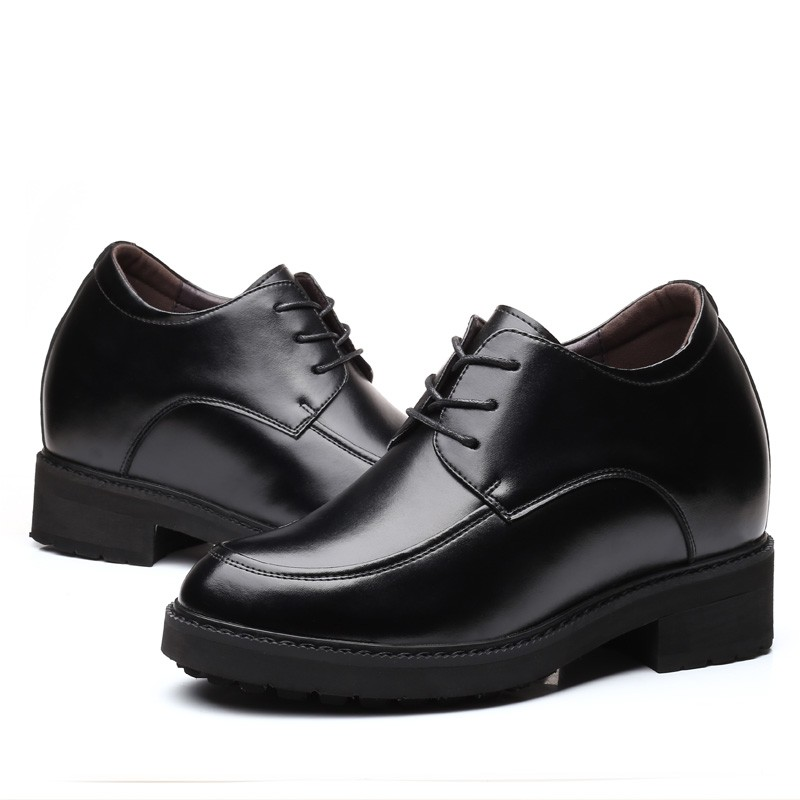black taller elevator shoes Groom wedding dress Height increase men tuxedo shoe
