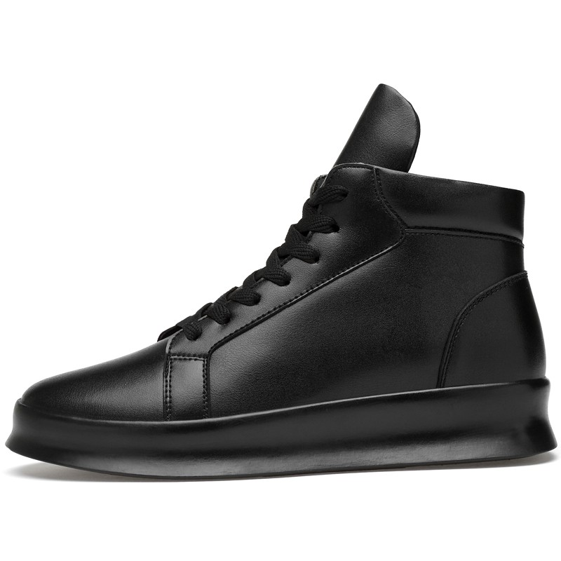 High Top Elevator Leather Sneakers for