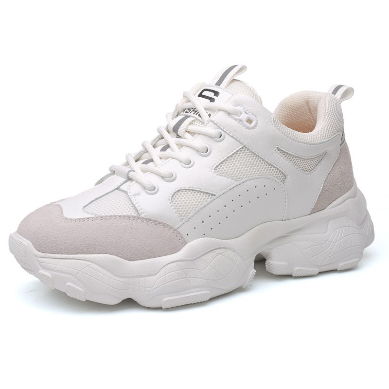 8cm White Trendy Elevator Dad Shoes