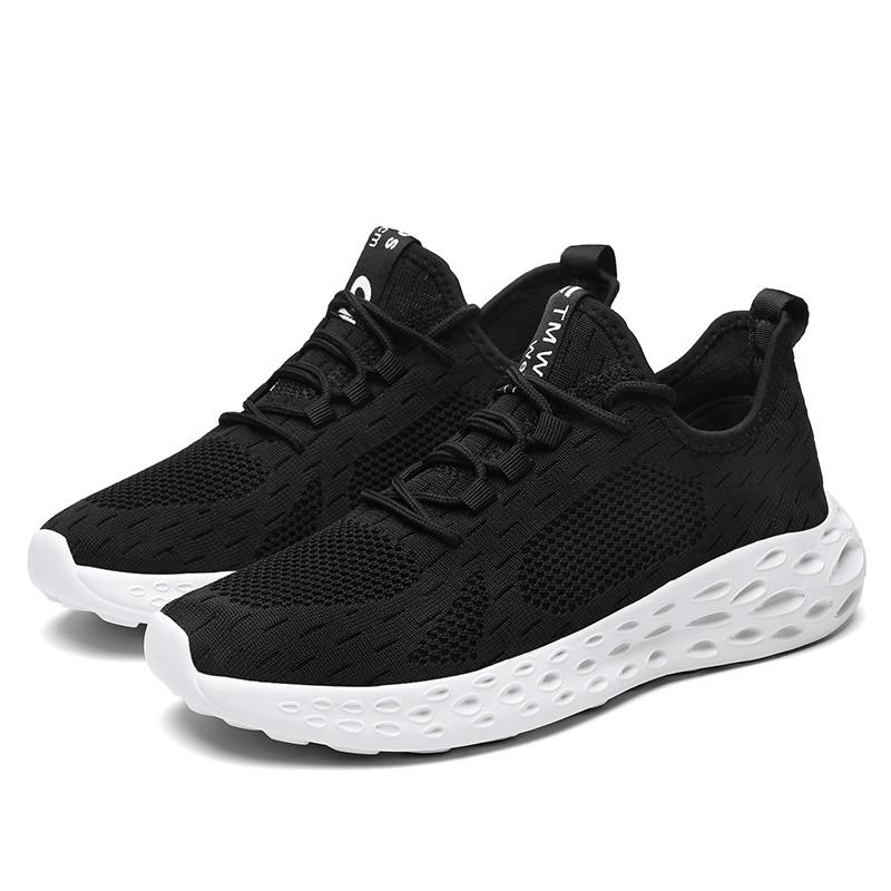 Hidden Lift Workout Shoes Black-White