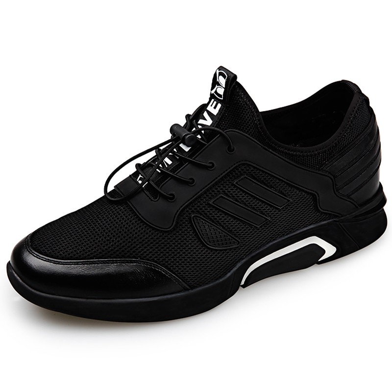 GOG Mens Height Increasing Light Weight Casual Sport Shoes Slip on Loafers 2.36 inches