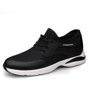 2021 Summer Elevator Fashion Sneakers for Men Add Height 3 inch / 7.5 cm Comfortable Slip On Walking Shoes