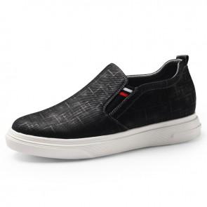 levator Fabric Shoes Black Slip On Skateboarding Loafer Shoes