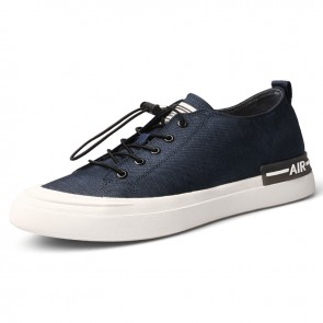 Height Elevator Classic Canvas Shoes Blue All Match Lightweight Skate Shoes Gain Taller 2.2inch / 5.5cm