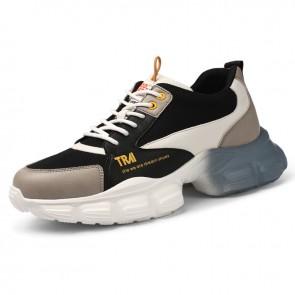 Elevator Fashion Chunky Sneakers fior Men Add Taller 3 inch / 7.5cm Hidden Heel Lift Celebs Dad Shoes