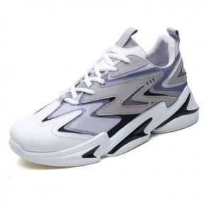 Urban Men Elevator Chunky Sneakers Add Taller 2.4 inch / 6 cm Height Elevator Mesh Platform Shoes