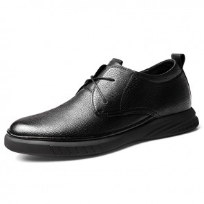 Height Increasing Soft Cowhide Casual Shoes Fashion Elevator Business Shoes Get Tall 2.4 inch / 6 cm