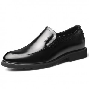 Gentlemen Elevator Slip-on Business Shoes Hidden Heel Lift Formal Dress Loafers Boost 2.6inch / 6.5cm