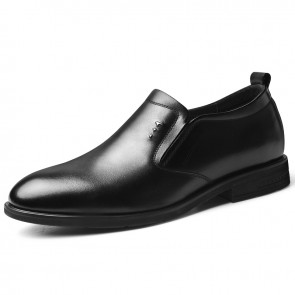 Awesome Elevator Dress Loafers Black Slip On Formal Tuxedo Shoes Gain Taller 2.4 inch / 6 cm