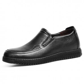 2021 Elevator Comfy Loafers for Men Increase Height 2.4inch / 6cm Black Moccasin Slip On Driving Casual Shoes
