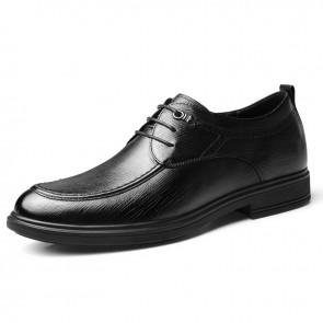 Lightweight Hidden Lift Dress Shoes Soft Calfskin Leather Business Formal Shoes Add Taller 2.8 inch / 7 cm