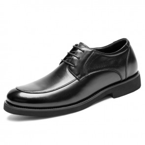 Lightweight Elevator Derbies for Men Add Height 2.4inch / 6cm Black Breathable Taller Business Formal Shoes