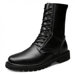 Western Elevator Tactical Boots for Men Increase Height 2.4 inch / 6 cm Hidden Taller Combat Military Boot