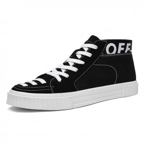 High Top Elevator Canvas Sneakers Taller 2.8inch / 7cm