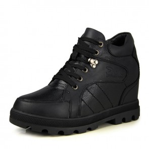 Extra Tall Elevator Shoes Make Men Looks Height 13cm / 5.1inches Full-Grain Calf Leather Shoes