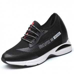 Hollow Out Height Trainers for Men Increase Taller 3.6inch / 9cm Slip On Workout Casual Walking Shoes