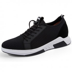 Men elevator Fitness shoes taller 2.8inch slip on men height increasing trainers