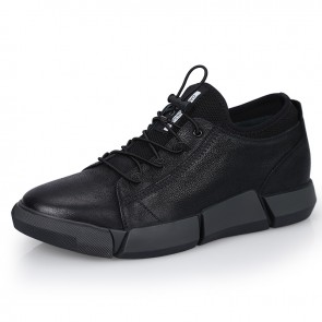 Hidden Lift Men Sneakers Increase Height 2.4inch / 6cm Suede Leather Casual Sports Shoes