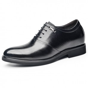 Elegant Height Increasing Oxfords for Men Look Taller 2.4inch / 6cm Business Formal Elevator Shoes