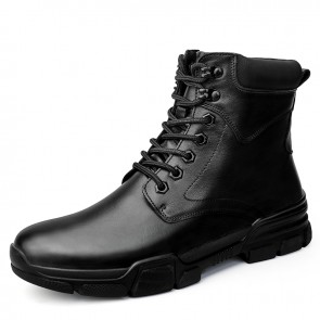 UK Height Increasing Chukka Boots for Men Add Taller 2.4 inch / 6 cm Lace Up Big Size Elevator Boots
