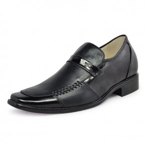 Genuine leather dress elevator shoes 7cm/2.75inchs taller height increase shoes