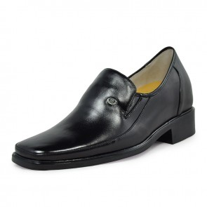 Hot sale height increase formal leather shoes 7cm/2.75inch taller