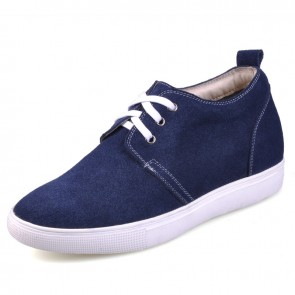 Dark Blue height increase shoes for men height growth 6cm / 2.36inches