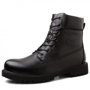 Height Increasing Unisex Motorcycle Boots Add Taller 2.6 inch / 6.5 cm Urban Elevator Riding Boot