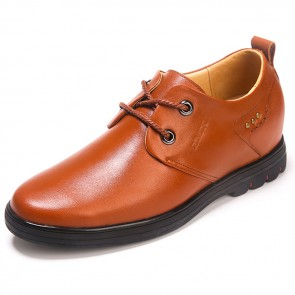 Stylish men elevator shoes height increasing 2.6inch / 6.5cm