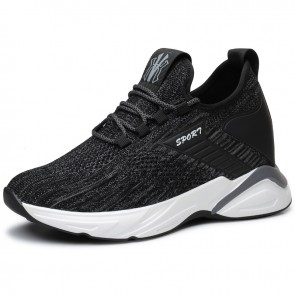 Comfortable 4 inch Elevator Trainers Lightweight Flyknit Hidden Lift Versatile Walking Shoes Give You Height 10cm
