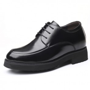 3.2inch Taller Formal Dress Shoes Lace Up Elevator Tuxedo Derbies Increasing Height 8cm