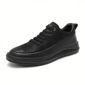 Hidden Lift Low Top Sneakers Increase Height 2 inch / 5 cm Nubuck Leather Elevator Versatile Shoes