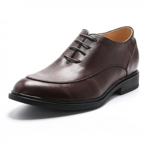 Add taller 6cm / 2.4inch height increasing sharp calf leather oxfords