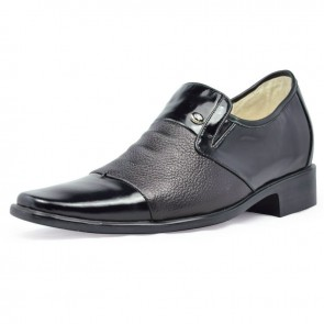 Real Leather Height Increase formal elevator Shoes Men 7cm/2.75inch taller shoes