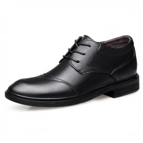 Exquisite Elevator Formal Shoes for Men Add Taller 2.4inch / 6cm Hidden Heel Lift Wedding Shoes