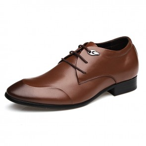 New men elevator derby shoe for extra height 6cm / 2.36inches tuxedo shoes
