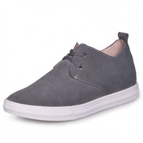 Grey British elevating shoes board shoe increase taller 6cm / 2.36inches