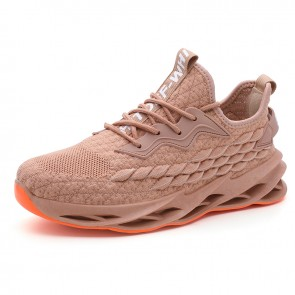 Khaki Elevator Blade Sneakers Flyknit Mesh Trendy Casual Walking Running Shoes Increase 2.4inch / 6cm