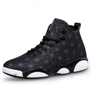 High top elevated men sneakers gain height 6.5cm / 2.6inch