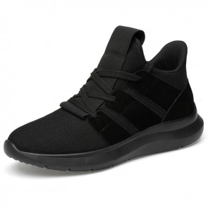 Height Increasing Trail Shoes for Youth Taller 2.8inch / 7cm Black Hidden Lifts Sneakers