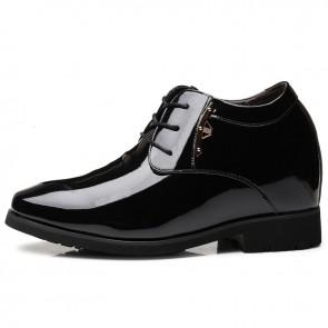 4 inch Taller Tuxedo Shoes for Men Increase Height 10cm Plain Toe Elevator Wedding Dress Shoes