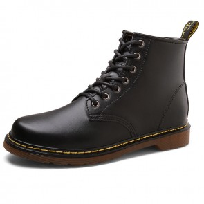 Black Height Increasing Ankle Boots for Men