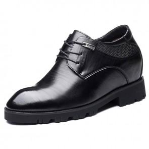 4 inch Hidden Heel Lift Dress Shoes Taller Men Business Formal Shoes Increasing 10cm
