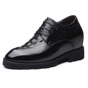 4 inch Elevator Bridegroom Wedding Shoes Alligator Pattern Height Dress Shoes Add Taller 10cm