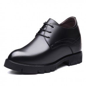 Taller Business Shoes Smooth Calfskin Elevator Formal Shoes Height 4.7inch / 12cm