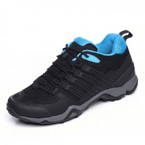Elevator hiking shoes gain tall 7.5cm / 2.95inch black outdoor sports shoes